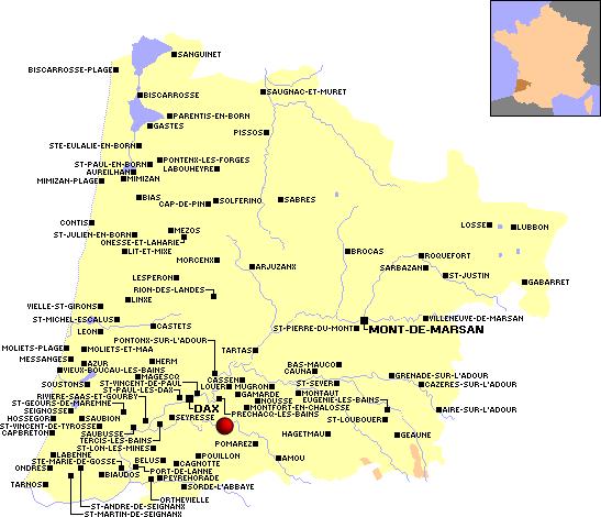 Observations migration 2011 dans le département : Landes (40)