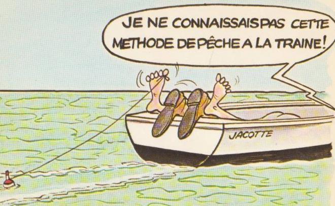 La pêche avec la flotte et la ligne i le jeu